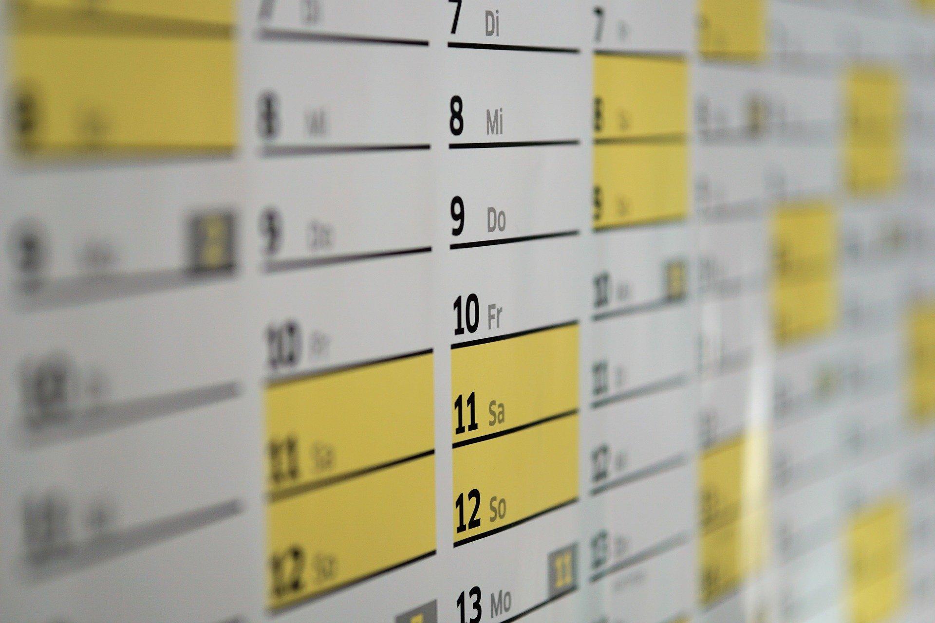 Kalender als Visual für Terminplanung